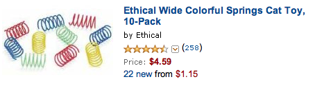 ethical wide colorful springs toy