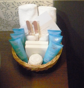 Complementary toiletries in 5 star hotels