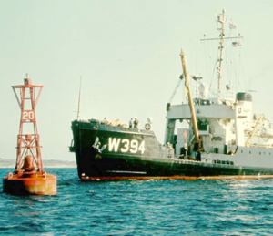 W394 Buoy and ship