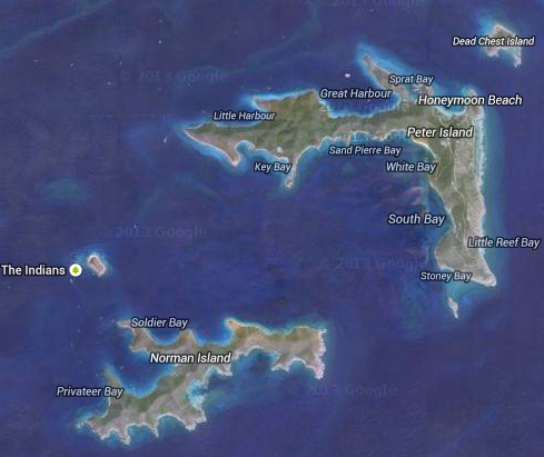 Map of Peter Island