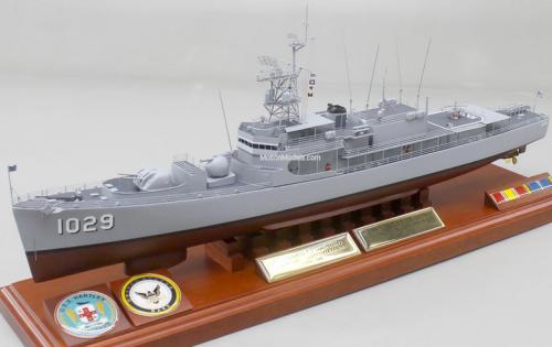 "Model of the USS Hartley (DE-1029) Photo Credit"" Joel Rosen Click image to order model motionmodels.com"