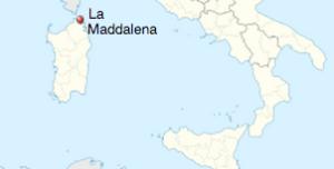 La Maddalena map