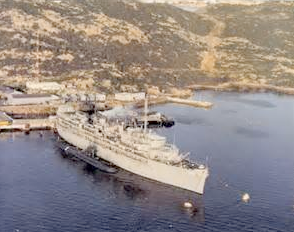 USS Orion (AS-18)  Santo Stephano Island