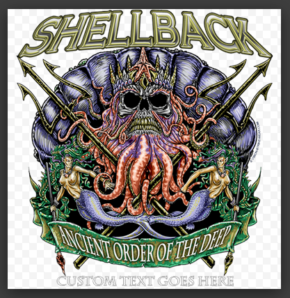 T-Shirt Design by http://www.vision-strike-wear.com/Navy-Shellback-Shirt.html
