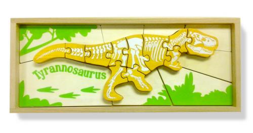 wooden jigsaw puzzle tyranosaurus rex